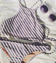 High neck bikini top.