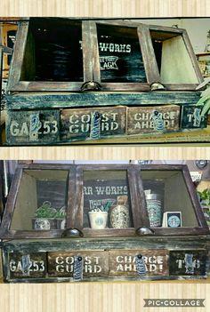 ダイソーのフレームと木箱でショーケースをDIY