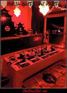 Ninja Party, Part Ninja Birthday Parties, 9th Birthday, Birthday Ideas, Last Halloween, Halloween Party, Japanese Party, Asian Party, Ninjago Party, Oriental Trading