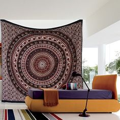 Large Hippie Tapestry Hippy Mandala Bohemian Tapestries Indian Dorm Decor Psychedelic Tapestry Wall Hanging Ethnic Decorative Tapestry 85 X 90 Inches >>> Read more reviews of the product by visiting the link on the image. (This is an affiliate link) #Tapestries