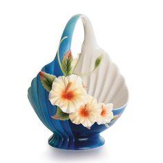Image detail for -Franz Porcelain and Kathy Ireland Island Hibiscus Ornamental Basket