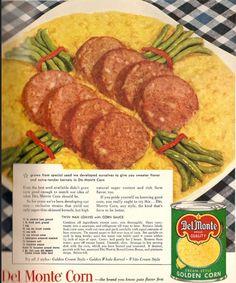 Twin Ham Loaves in Corn Sauce
