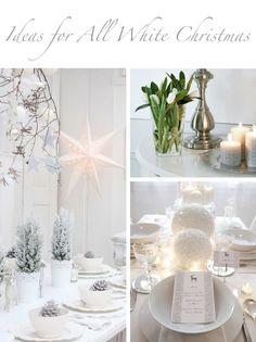 All white Christmas decorating ideas at @skimbaco