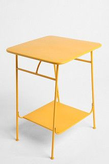 Factory Side Table, Yellow - modern - side tables and accent tables - by Urban Outfitters