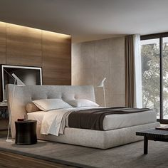 Poliform Rever bed, available in Boston at Showroom