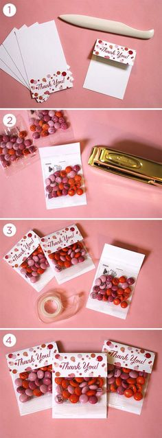 Diy Party Favor Packaging With Free Thank You Tags Via Mymms And Evite On Kara's Party Ideas - The Place For All Things Party Wedding Favours, Diy Wedding, Wedding Gifts, Wedding Ideas, Wedding Cake, Trendy Wedding, Birthday Party Favors, Birthday Parties, Birthday Diy