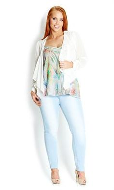 Romantic Drape Jacket | Plus Size Jackets & Blazers | OneStopPlus