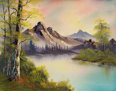 bob ross pastel skies paintings