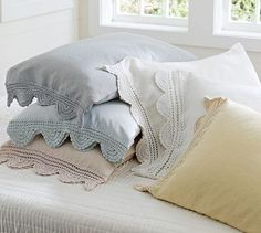 Shop crochet trimmed standard sham from Pottery Barn. Our furniture, home decor and accessories collections feature crochet trimmed standard sham in quality materials and classic styles.