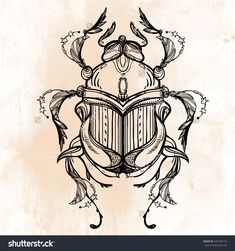 stock-vector-beautiful-hand-drawn-scarab-beetle-insect-vintage-style-tattoo-vector-engraving-romantic-270730112.jpg (1500×1600)