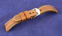 Men's Gunny Blacksteel Series Watch Strap / Band 20mm Brown Color  #Gunny