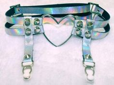♡♡♡♡♡  Kawaii thigh garter in transparent purple plastic with studs.  Available in one size;  ~Size can be adjusted~  ♡♡♡♡♡  Available in 2 styles;  One strap or two straps  ♡♡♡♡♡  FREE SHIPPING IN AUSTRALIA [$3 everywhere else.] ♡♡♡♡♡  Please allow 3 - 6 weeks for this product to get t...