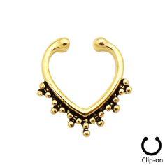 Rosa da asa Vintage indiano nariz falso nariz septo anel falso clicadores Hoops Clip On não Piercing em Jóias para corpo de Jóias no AliExpress.com | Alibaba Group
