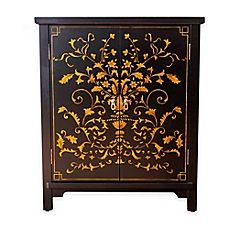 image of Abbyson Living® Antique Parmita Hand Painted Side Cabinet