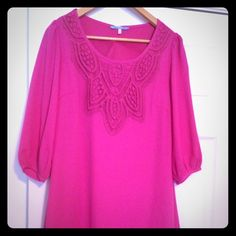 Bohemian Pink! Really fun and funky pink dress! Francesca's Collections Dresses