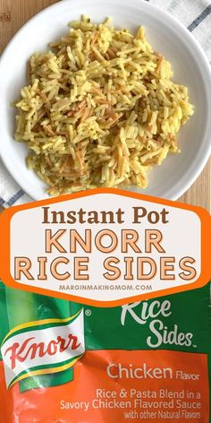 Learn how to cook Knorr Rice Sides in the Instant Pot as a great way to save time and effort in the kitchen! Instant Pot Pressure Cooker, Pressure Cooker Recipes, Pressure Cooking, Chicken Flavored Rice, Chicken Flavors, Side Dishes Easy, Side Dish Recipes, One Week Meal Plan, Instant Pot Dinner Recipes