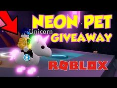 Adopt Me Neon Pets - How to get a FREE NEON PET IN ADOPT ME Pet Dragon, Roblox Codes, Animal Room, Pet Rabbit, Pink Cat, Christmas Animals, Shiba Inu, Animal Shelter, Animal Drawings