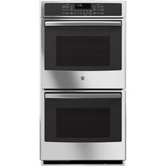 GE Self-Cleaning Double Electric Wall Oven (Stainless Steel) (Common: 27 Inch; Actual: at Lowe's. With this GE double electric wall oven in your kitchen, you can easily cook more dishes at one time, especially helpful when preparing large meals.