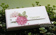 StampinUp Janneke Juni2016 Voorjouvanmij Stampin Up! Flourishing Phrases, Flourish Thinlits, Awesomely Artistic  https://www.youtube.com/watch?v=-06nhnGRsqs