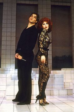 "Raul Julia and Anita Morris in ""Nine"" on Broadway (1982). A great loss of two such talented actors."