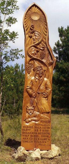 Nimród_Pilisszantó How Beautiful, Wood Carving, Vikings, Folk Art, Sculptures, Faith, Statue, History, Country