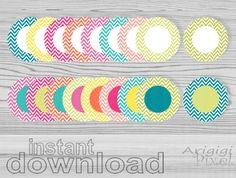 instant download clipart set chevron circles clip by ArigigiPixel