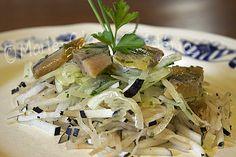 Salade de chou rave lacto fermenté au hareng