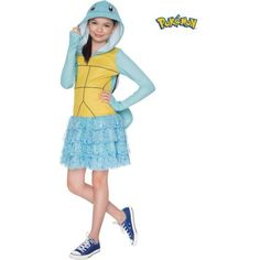 Pokemon Squirtle Hooded Costume for Kids