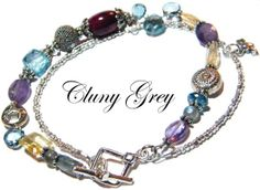 The Jewelry Blog - gemstone bracelet - a unique  handmade bracelet with ruby, amethyst, blue topaz, citrine and sterling silver - http://www.clunygreyjewelry.com/page3.html  #uniquebracelet  #bracelet