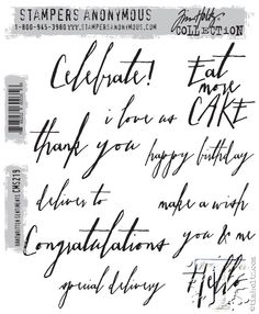 RESERVE Tim Holtz Cling Rubber Stamps 2015 HANDWRITTEN SENTIMENTS cms219 zoom image