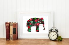 Button Art Elephant Button Art & Swarovski Art by BellePapiers