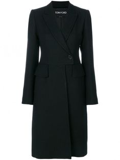 Tom Ford single breasted coat - Black If you like Fashion Checkout our Roku Channel! Hobbs Coat, Coats For Women, Clothes For Women, Black Wool Coat, High End Fashion, Single Breasted, Tom Ford, Work Wear, How To Wear