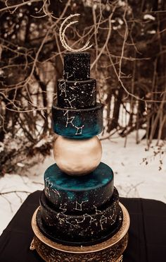 Starry Night Wedding, Moon Wedding, Celestial Wedding, Dream Wedding, Wedding Day, Star Wedding, Beautiful Wedding Cakes, Beautiful Cakes, Best Wedding Cakes