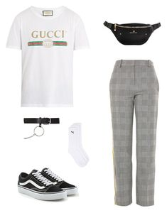 """""""Untitled #51"""" by rayensulistiawan on Polyvore featuring Gucci, Topshop, Vans, Topman, men's fashion and menswear"""