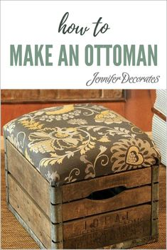 How to make an ottoman - Looking for living room decor ideas that are unique and affordable? I used an old milk crate to make a really cool ottoman.