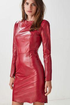 vestido couro rosies