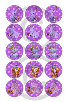 Lumpy Bottle Cap images 1in circle 4x6 by KissesCouture on Etsy, $1.51