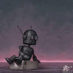 Очаровательные роботы в иллюстрациях  Matt Dixon
