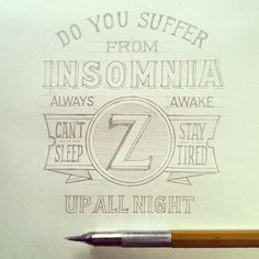 So tired I forgot to add the question marks. #insomnia #sketch #handlettering