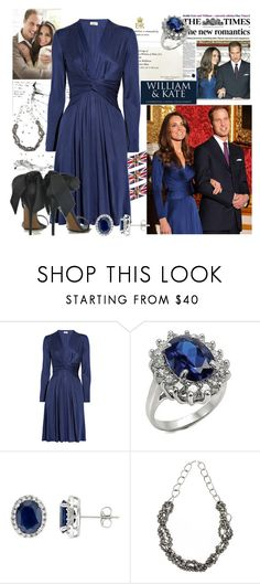 """""""Kate Middleton V"""" by bklana ❤ liked on Polyvore featuring CO, Issa, Fantasy Jewelry Box, Valentino, Jigsaw, blue dress, royal wedding, kate middleton, prince willian and princess"""