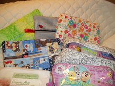 Large zippered  bags for baby wipes