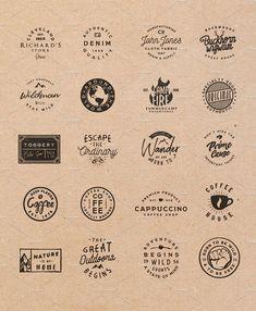 [vol. 3] 20 Retro Badges Templates by Roman Paslavskiy on @creativemarket #ideas #inspiration #digitalart #creativemarket #logo #brand #branding
