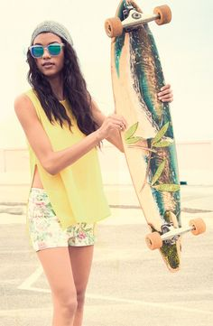 Spring Break & Skateboards #NordstromBP #MarchCatalog This deck is gorgeous.