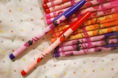 Fruit scented pencils!