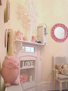 girls shabby chic french bedroom vintage pastel pink pram shutters ...