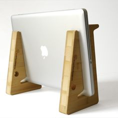 unique puzzle shaped laptopstand in sustainable bamboo wood.. €62.50, via Etsy.