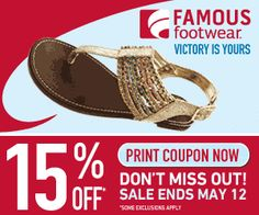 New Famous Footwear Printable Coupon for May