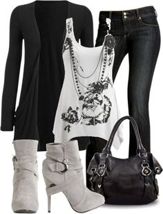 Outfit and combination of clothes image   Women Fashion pics