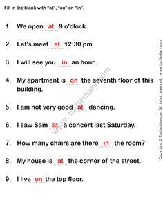 Prepositions Worksheet1 - esl-efl Worksheets - grade-1 Worksheets ...