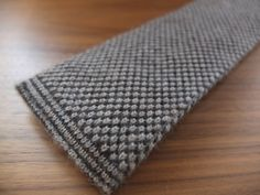 Malford of London 100% cashmere brown knit tie